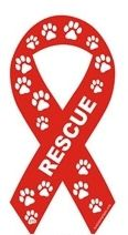 animal shelter support - rescue ribbon